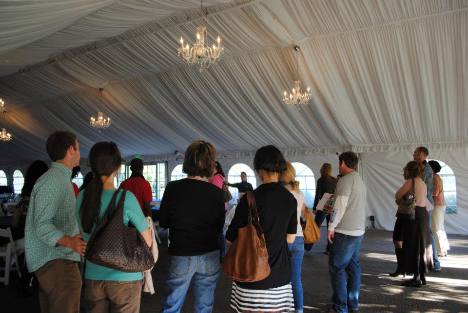 Tour at Marriott Tent