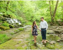 Engagement Session With a Beautiful Waterfall at Shaker Village