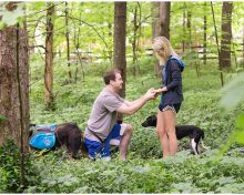 Surprise Engagement Proposal at the Arboretum in Lexington, KY (Involving Two Cute Doggies)