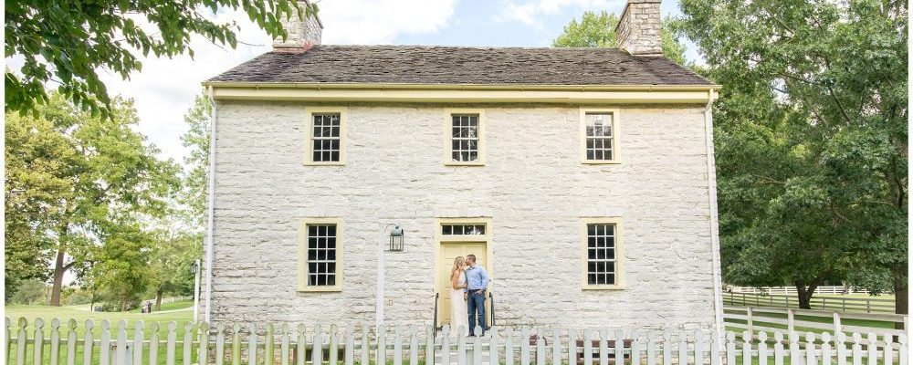 September Engagement Session at Shaker Village With Two Adorable Dogs