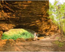 Adventurous Red River Gorge Engagement Session at Star Gap Arch