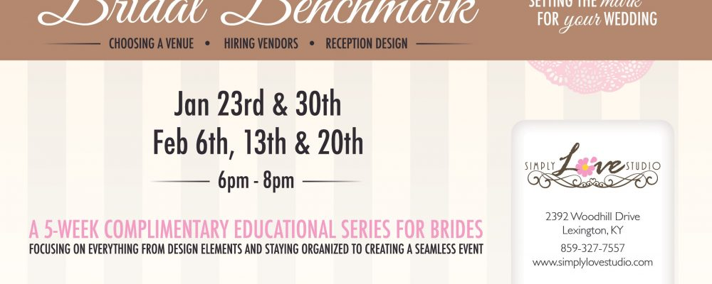 Spring 2013 Bridal Benchmark Dates are up!