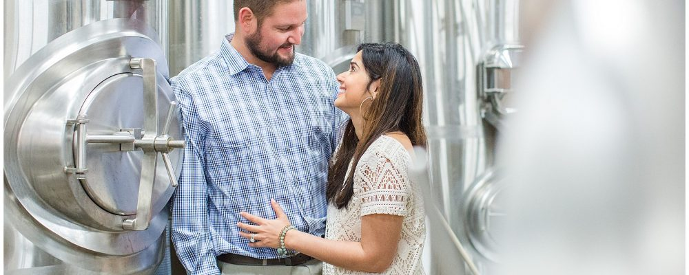 Winter Engagement Session at Rock House Brewing and Keeneland in Lexington, KY