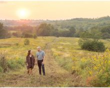 Gorgeous Waterfall Engagement Session at Shaker Village in Harrodsburg, Kentucky