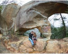 Winter Red River Gorge Engagement Session in Kentucky (Nada Tunnel, Sky Bridge & More)